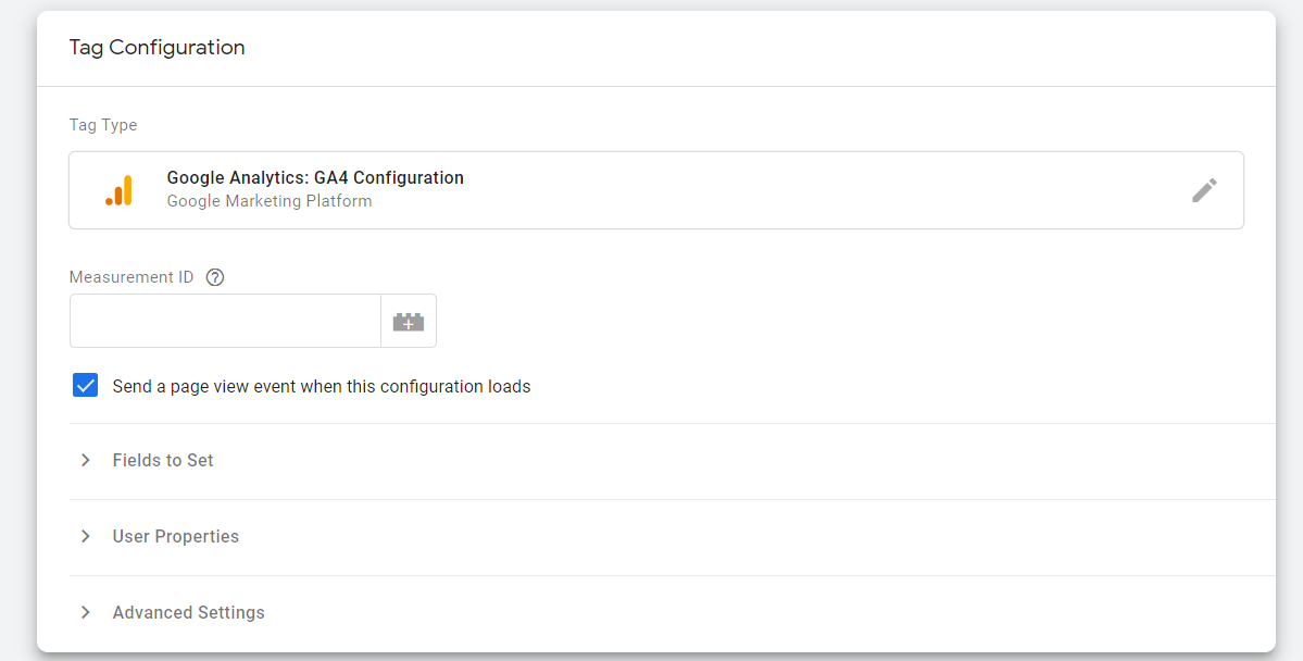 Afbeelding 1 Google Analytics Tag Manager configuratie in Google Tag Manager