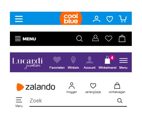 Afbeelding 10 diverse headers met begrijpelijke iconen