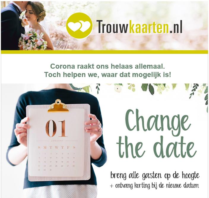 Voorbeeld nieuwsbrief Trouwkaarten.nl
