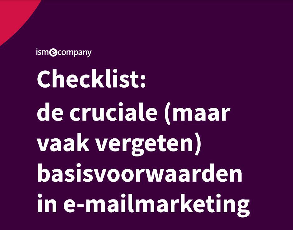 Front checklist basisvoorwaarden e-mailmarketing