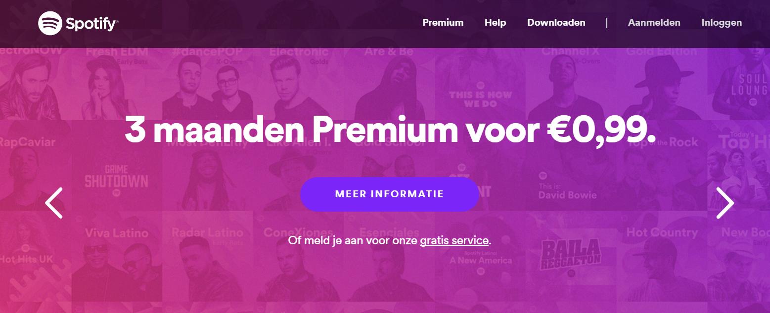 Afbeelding 3 - Spotify biedt een gratis proefperiode aan