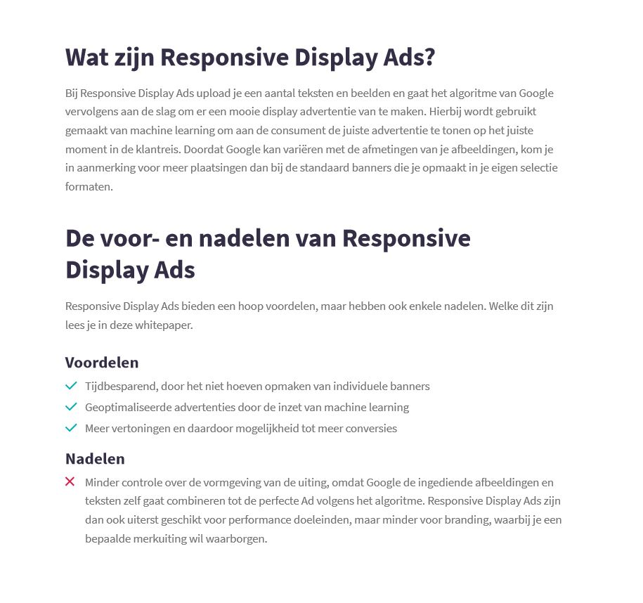 Preview checklist responsive display ads