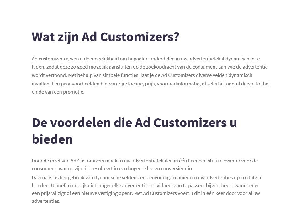 Preview whitepaper Ad Customizers