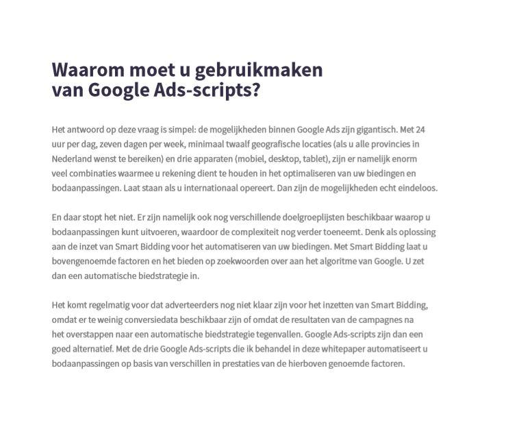 Waarom moet u gebruikmaken van Google Ads-scripts